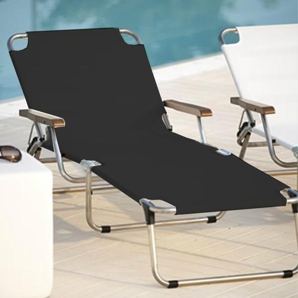 jan kurtz dreibein liege amigo liege mit armlehne schwarz. Black Bedroom Furniture Sets. Home Design Ideas
