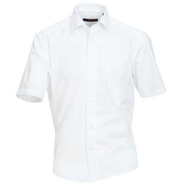 Cotton Island 1/2-Arm Hemd weiss Kent Popeline