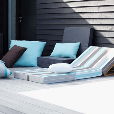 Gästematratze Designers Guild Tarifa gestreift Sonnenliege 10x189x80 – Bild 2