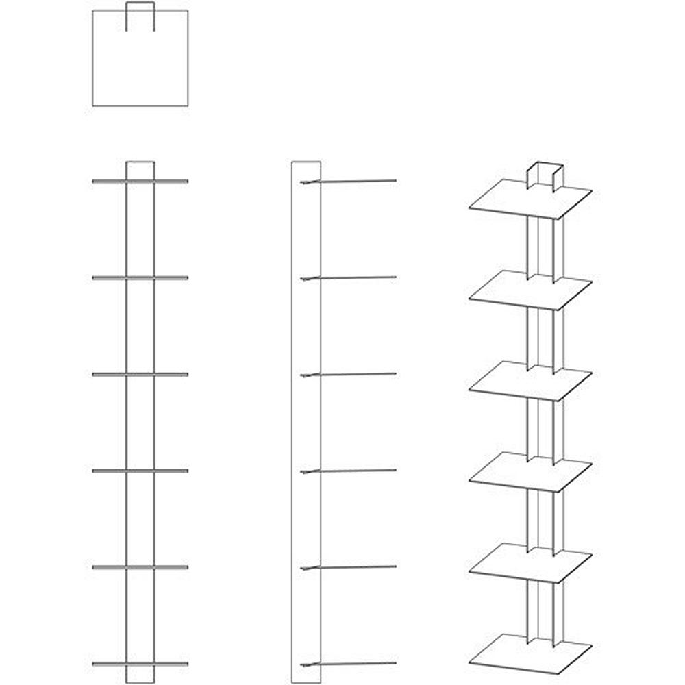 Haseform Bücherturm 90 cm (für 1 m Bücher) anthrazit Bücherregal ...