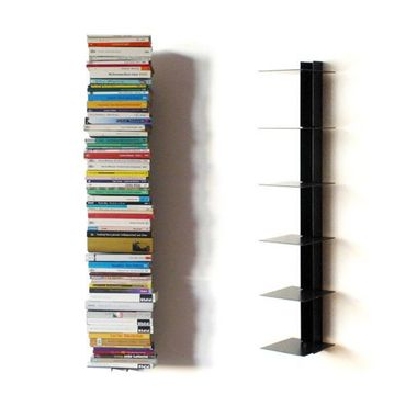 Haseform Bücherturm 90 cm (für 1 m Bücher) anthrazit Bücherregal Wandregal