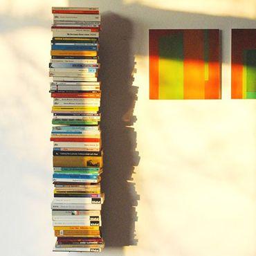 Haseform Bücherturm 90 cm (für 1 m Bücher) anthrazit Bücherregal Wandregal – Bild 2