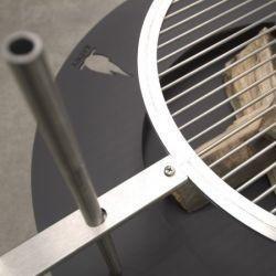 Radius 75 cm Stahl anthrazit Fireplate Feuerstelle - Grill nachrüstbar - 531 d – Bild 5