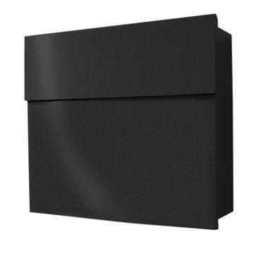 Radius Design Briefkasten Letterman 4, verdecktes Schloss, moderner Wand-Postkasten schwarz, Geschenkidee zum Richtfest