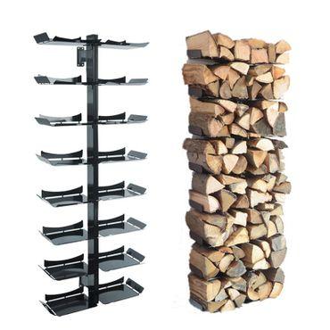 Radius Kaminholzständer Wand schwarz gross Firewood Tree Wooden Tree - 728 a