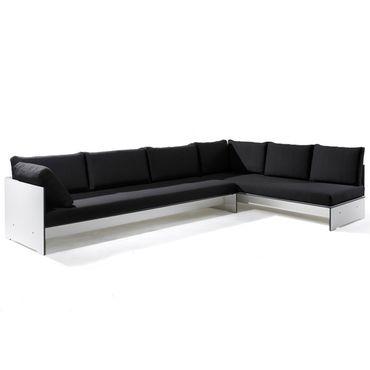 Conmoto Riva Lounge - Kombination 4 / D weiss - Sitzgarnitur - 320 cm x 200 cm mit Chaiselongue