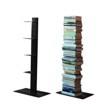 Radius Bücherregal Booksbaum 2 schwarz einreihig stehend klein - 734 a – Bild 1