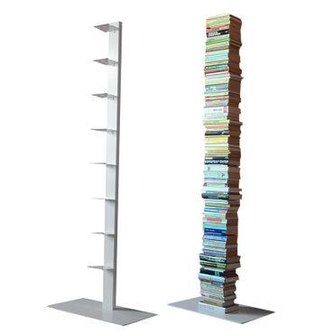 Radius Bücherregal Booksbaum 2 weiss einreihig stehend gross - 735 b – Bild 1