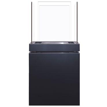Semi Flame 1,7 L schwarz gebürsteter Edelstahl Ethanolkamin von Radius Design - 553 A