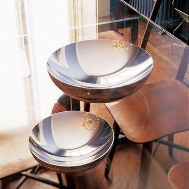 alessi schale double 32 cm aus gl nzendem edelstahl dul02 32 speisen servieren geschirr. Black Bedroom Furniture Sets. Home Design Ideas