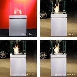 Semi Flame 3 L schwarz gebürsteter Edelstahl Ethanolkamin von Radius Design - 553 e – Bild 4