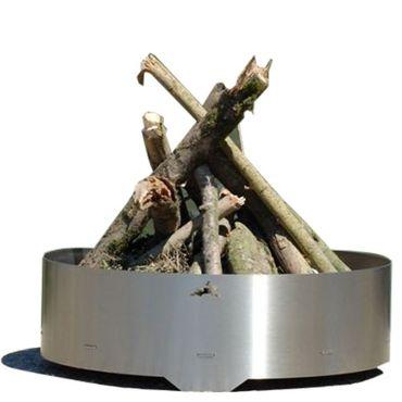 Haseform Feuerstelle rund Edelstahl Feuerschale 75 cm – Bild 1