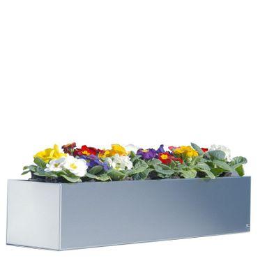 Radius Blumenkasten Edelstahl 100 cm - 519 c – Bild 1