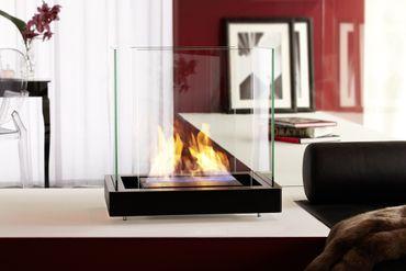 Top Flame 1,7 L schwarz gebürsteter Edelstahl Ethanolkamin von Radius Design - 551 a – Bild 4