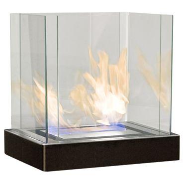 Top Flame 3 L schwarz gebürsteter Edelstahl Ethanolkamin von Radius Design - 551 k