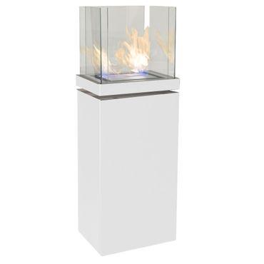 High Flame 1,7 L weiss gebürsteter Edelstahl Ethanolkamin von Radius Design - 555 l – Bild 1