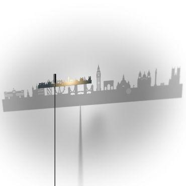Absolut Stehleuchte Shining Image London 75 cm Lampe – Bild 3