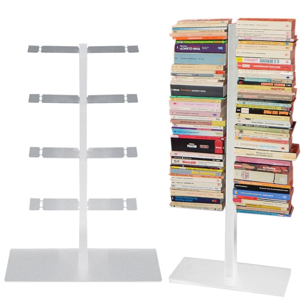 Radius Booksbaum Bücherregal Mit Stand Klein Silber Mocavi Der Design Shop