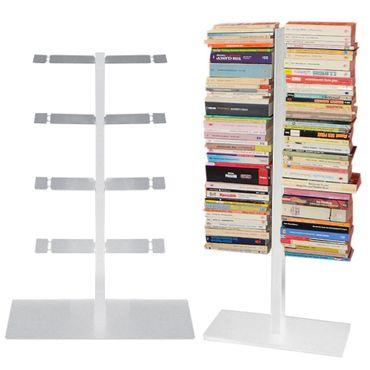 Radius Booksbaum Bücherregal mit Stand klein silber - 716 c