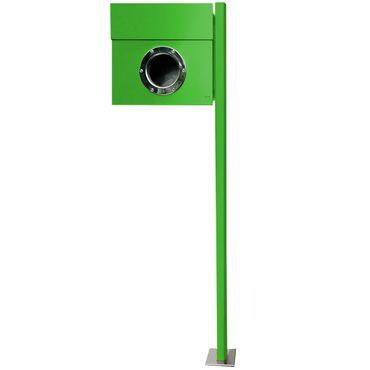 Radius Standbriefkasten Letterman 1 grün mit Pfosten - 563 b