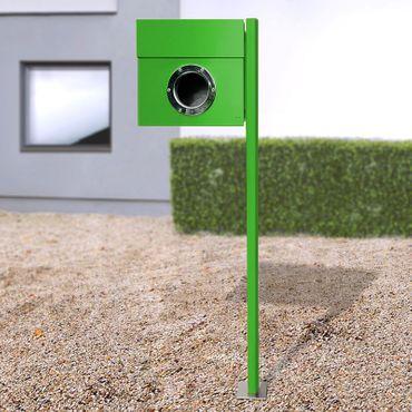 Radius Standbriefkasten Letterman 1 grün mit Pfosten - 563 b – Bild 2