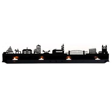 Radius Licht Magdeburg Teelichthalter schwarz 80x18x5 - 711b2