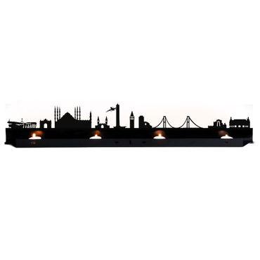 Radius Licht Istanbul Teelichthalter schwarz 80x18x5 - 711v1