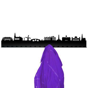Radius Städte Garderobe Amsterdam schwarz 80x18x3,5 - 709h2