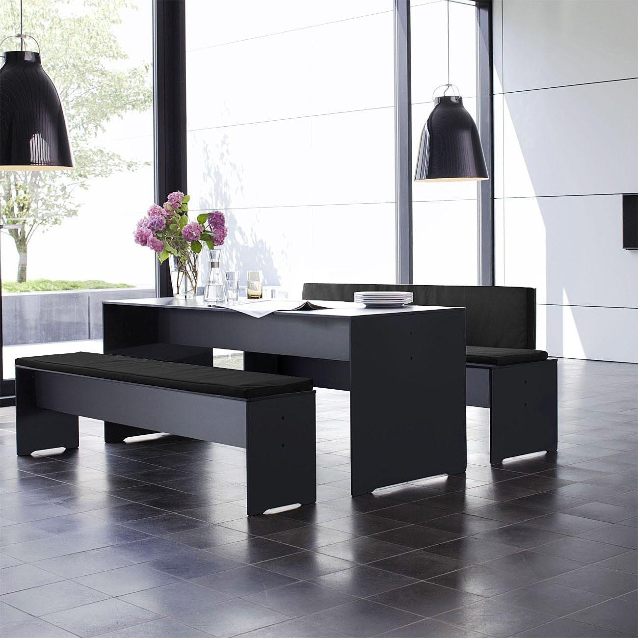conmoto riva bank m 194 anthrazit ohne auflage wetterfest aus hpl gartenbank eingang. Black Bedroom Furniture Sets. Home Design Ideas