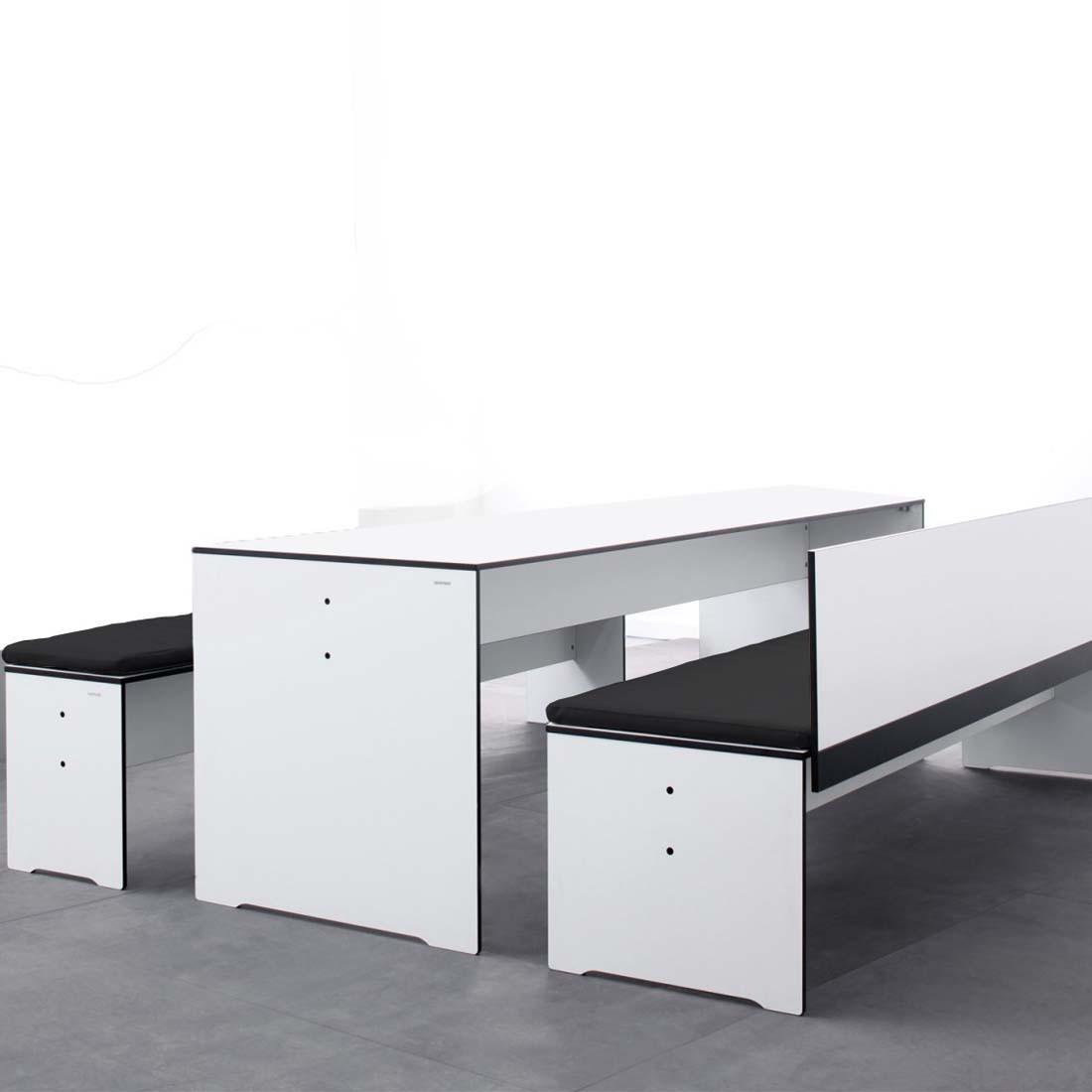 conmoto riva bank m 194 anthrazit mit lehne ohne auflage wetterfest aus hpl gartenbank. Black Bedroom Furniture Sets. Home Design Ideas