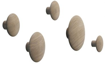 Muuto The Dots Kleiderhaken 5er Set Natural Oak Eiche Holz 03001