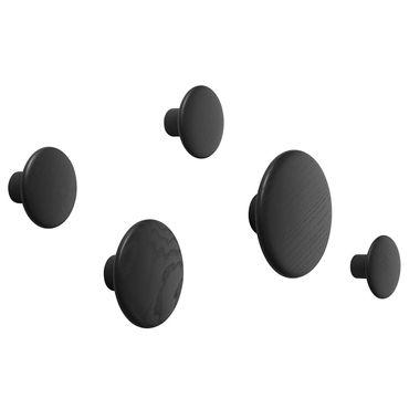 Muuto The Dots Kleiderhaken 5er Set schwarz 03002