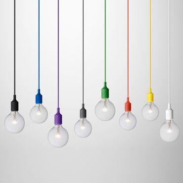 Muuto Lampe E27 Pendelleuchte Halogen gelb 05164 – Bild 2