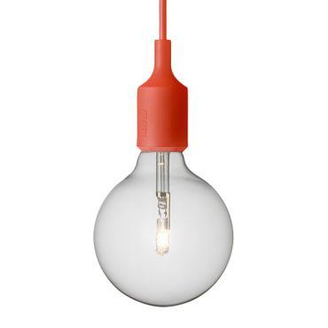 Muuto Lampe E27 Pendelleuchte Halogen rot 05165