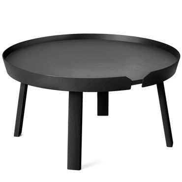 Muuto Around Coffee Table Large Black Beistelltisch schwarz 10073