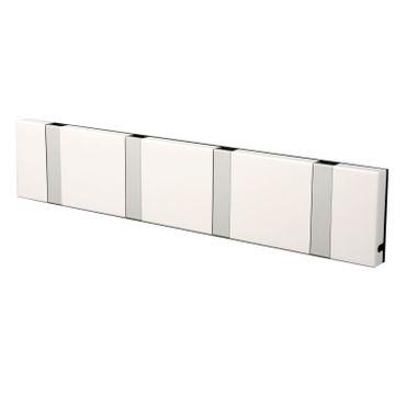 LoCa Garderobe Knax 4 weiß (Haken klappbar Alu)  – Bild 1