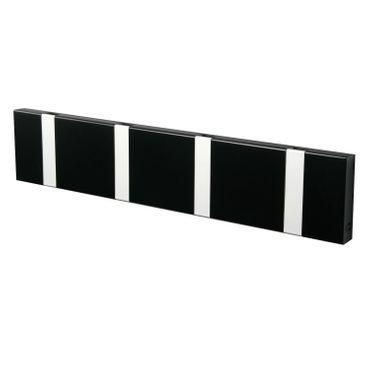 LoCa Garderobe Knax 4 schwarz (Haken klappbar Alu)  – Bild 1