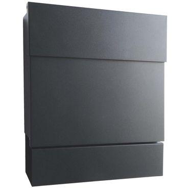 radius briefkasten letterman xxl 2 anthrazitgrau ral 7016. Black Bedroom Furniture Sets. Home Design Ideas