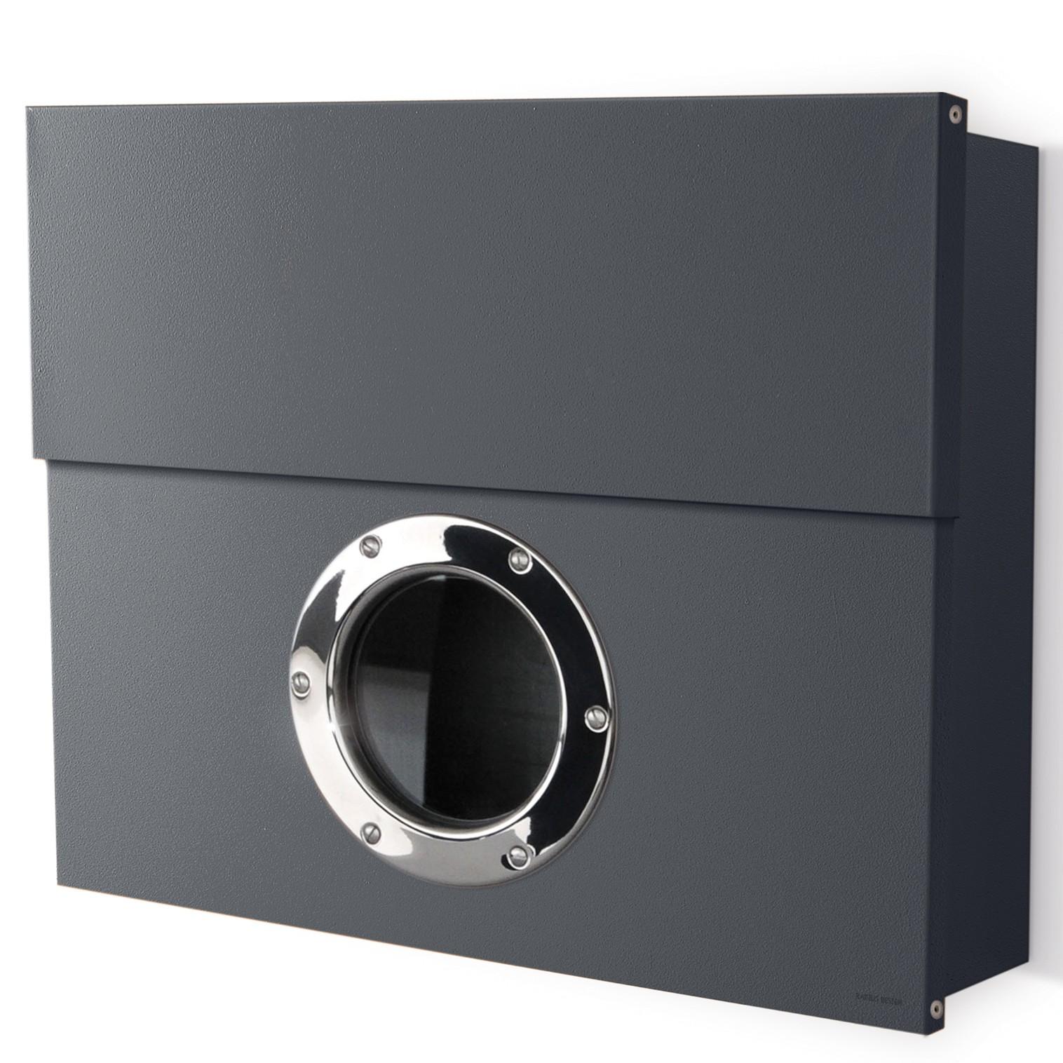 radius briefkasten letterman xxl anthrazitgrau ral 7016 mit verdecktem zeitungsfach 550 g. Black Bedroom Furniture Sets. Home Design Ideas