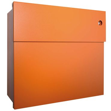 Radius Briefkasten Letterman 4 orange mit LED-Klingel rot 560 A-KR