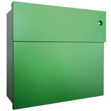 Radius Briefkasten Letterman 4 grün mit LED-Klingel blau 560 B-KB