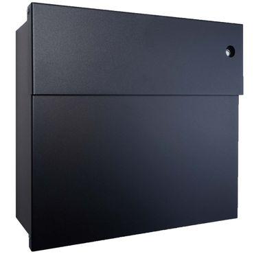 Radius Briefkasten Letterman 4 schwarz mit LED-Klingel blau 560 F-KB – Bild 1