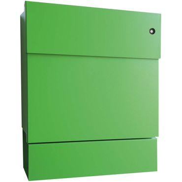 Radius Briefkasten Letterman 5 grün mit LED-Klingel rot + Zeitungsrolle 561 B-KR – Bild 1
