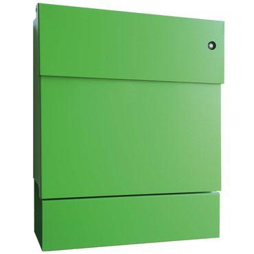 Radius Briefkasten Letterman 5 grün mit LED-Klingel blau + Zeitungsrolle 561 B-KB