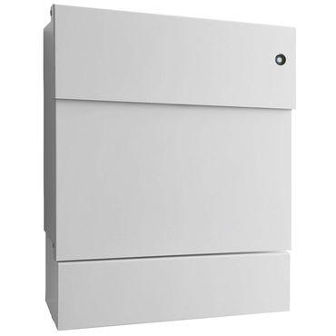 radius briefkasten letterman 5 mit zeitungsrolle in edelstahl schwarz weiss sofort. Black Bedroom Furniture Sets. Home Design Ideas