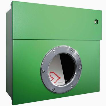 Radius Briefkasten Letterman 1 grün mit LED-Klingel rot 506 B-KR