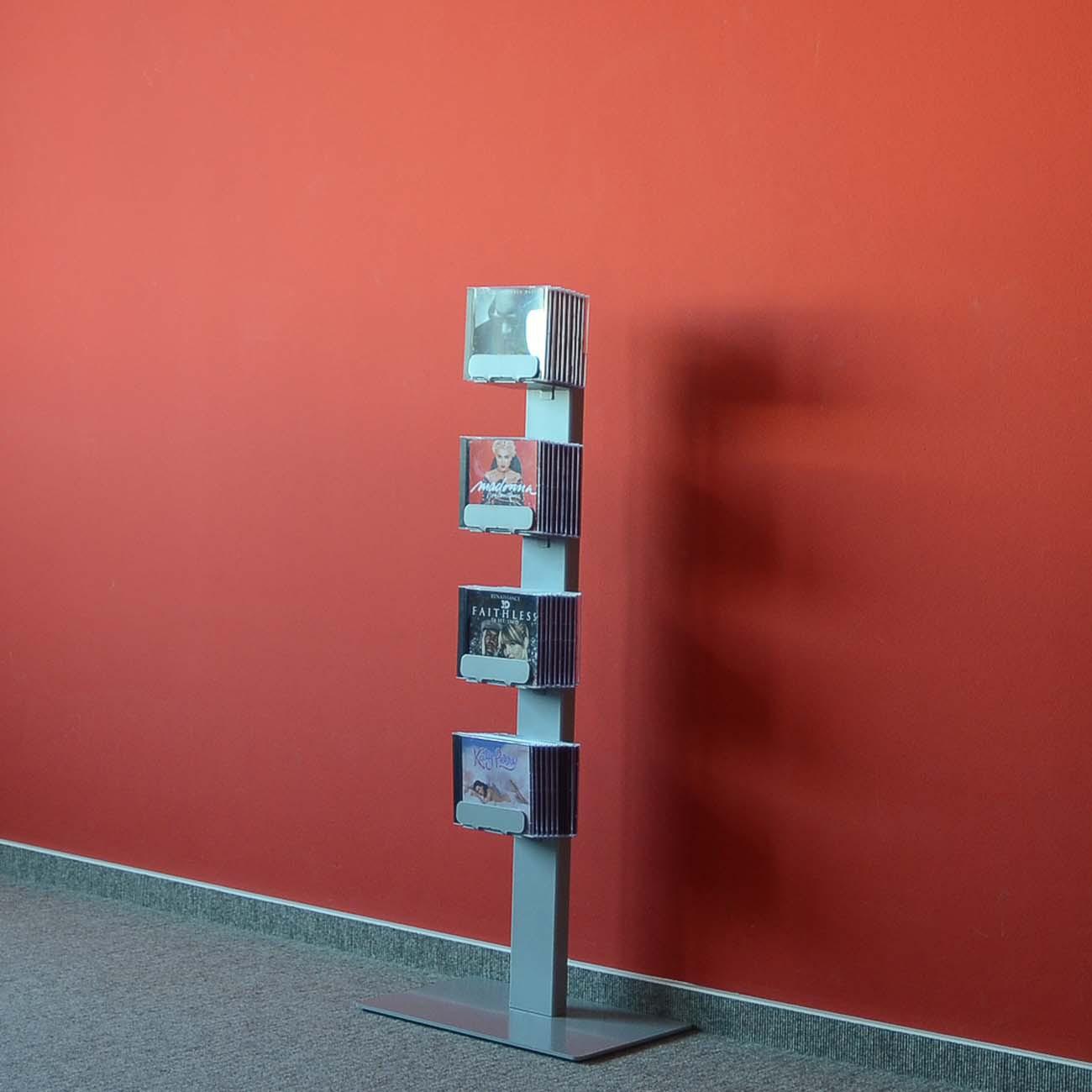 radius cd baum regal silber stand 2 klein 737 c m bel regale standregale. Black Bedroom Furniture Sets. Home Design Ideas