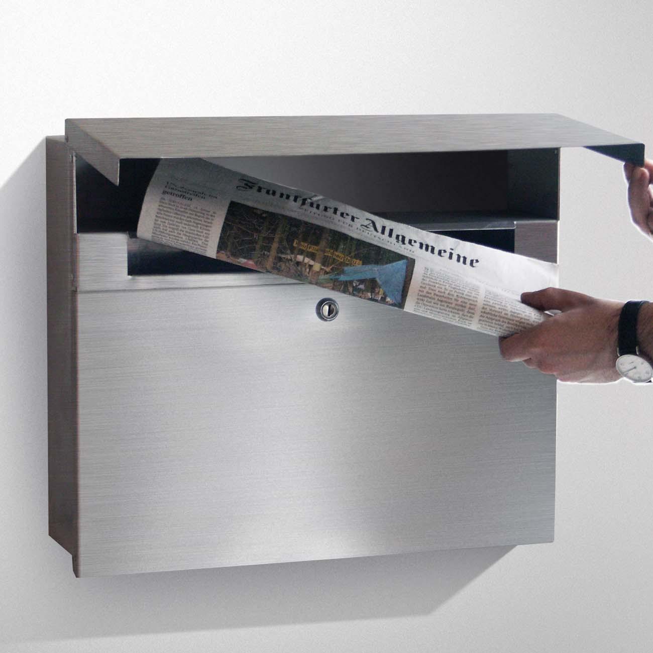 radius standbriefkasten letterman xxl 2 anthrazitgrau ral. Black Bedroom Furniture Sets. Home Design Ideas