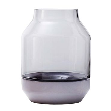 Muuto Elevated Vase by Thomas Bentzen grey grau 17 cm 14151