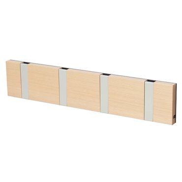 LoCa Garderobe Knax 4 Buche geölt (Haken klappbar Alu)  – Bild 1